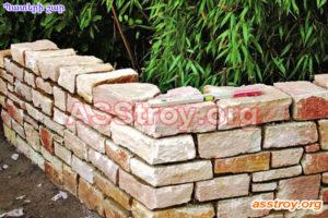 Պատերի շար բնական քարերից